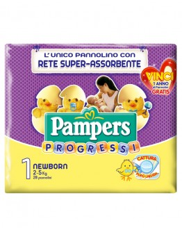 6 Pampers progressi NEW BORN pannolini TAG.1'(2-5kg)