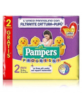 6 Pampers progressi  pannolini TAG.2' (3-6kg)