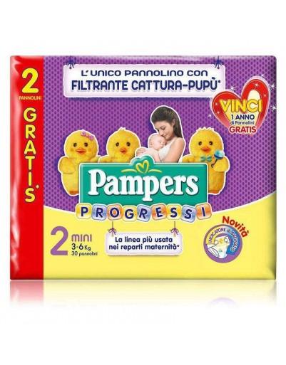 6 Pampers progressi  pannolini TAG.2' (3-6kg)