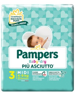 PAMPERS BABY DRY DOWN MIDI 20P