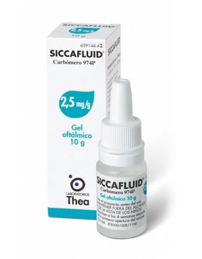 SICCAFLUID*GEL OFT 10G 2,5MG/G